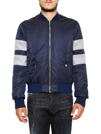 Bomber Jacket With Contrast Inserts