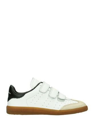 Isabel Marant Beth White Leather Sneakers