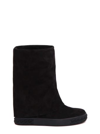 Casadei Booties With Trimmed Sole