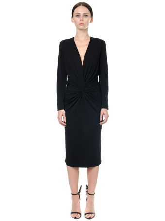 Lanvin Black Cady Dress