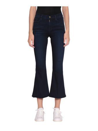 Frame Le Crop Bell Cotton Denim Jeans