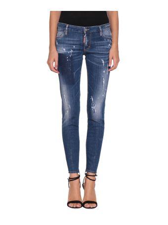 Dsquared2 Super Skinny Cotton Denim Jeans