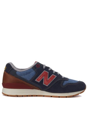 Sneaker New Balance 996 Nf In Suede Blu E Pelle Cuoio