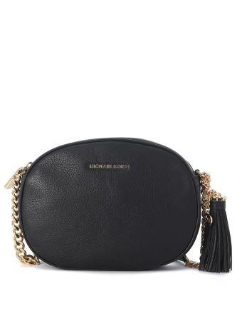 Michael Kors Ginny Black Leather Bag