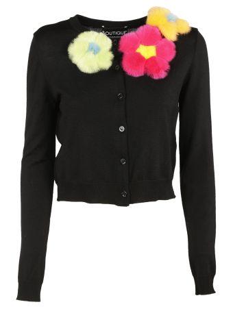 Boutique Moschino Flower Appliquツ Cardigan