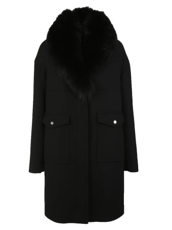 Moncler Gamme Rouge Fur Collar Coat