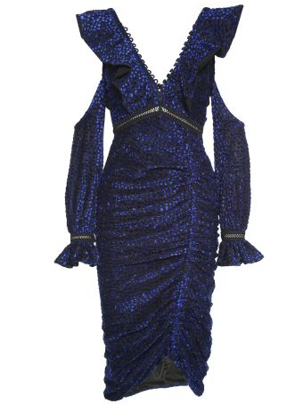 self-portrait Flecked Devorè Dress