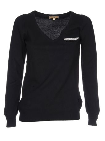 Fay Embellished Pocket Sweater