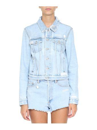 Off-White Bleached Denim Cotton Jacket