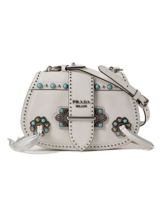 Prada City Calf Shoulder Bag