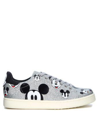 Moa Mickey Mouse Silver Glitter Sneaker