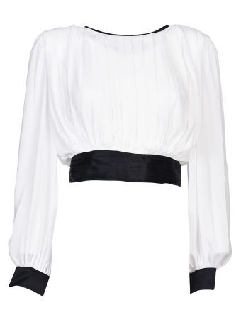 Alice + Olivia Tied Blouse