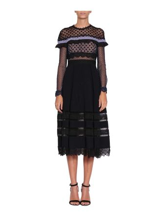 self-portrait Bellis Cotton Dress