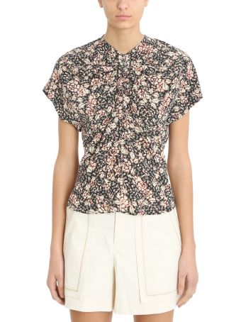 Isabel Marant Baga Flowers Silk Blouse