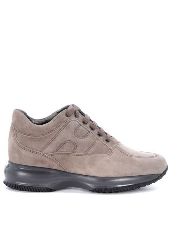 Hogan Interactive Sneaker In Dove Grey Suede