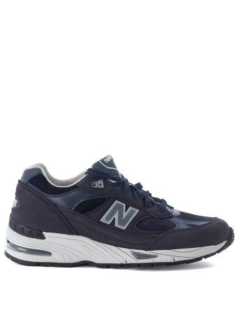 Sneaker New Balance 991 Blue Leather And Suede