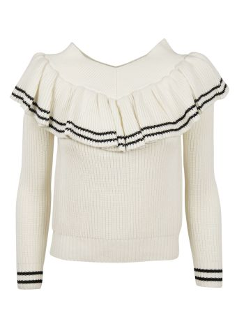 self-portrait Frill Detail Sweater