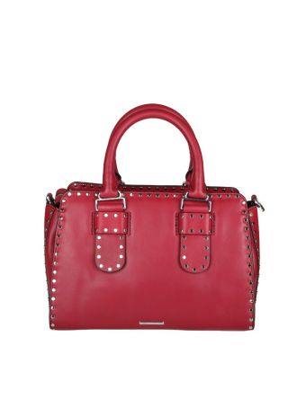 Rebecca Minkoff Midnighter Medium Satchel Bag Leather Red