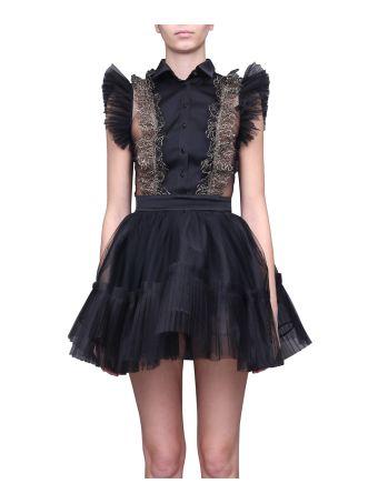 WANDERING Ruffled Tulle Dress