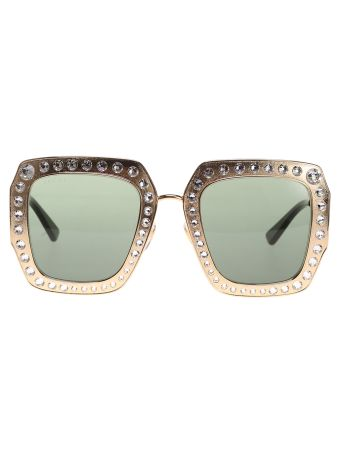 Gucci Eyewear Studded Square Sunglasses