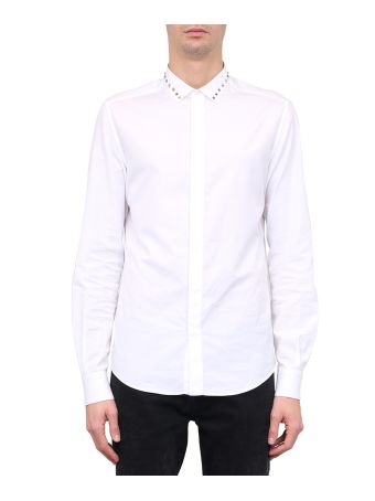 Valentino Rockstud Cotton Poplin Shirt