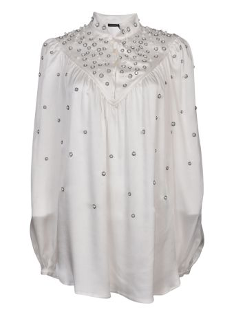 Wandering Pearl and Crystal-Embellished Blouse