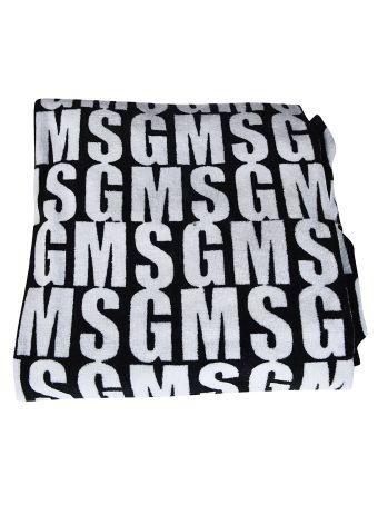 Msgm Branded Beach Towel