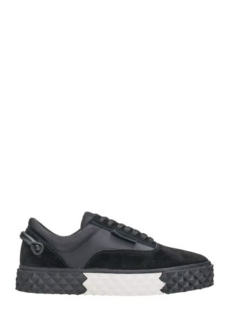 Kendall + Kylie Reign Black Suede And Calf Leather Sneakers