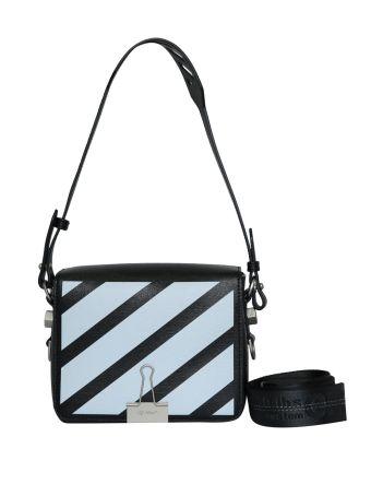 Off-White Diagonal Square Leather Flap Bag