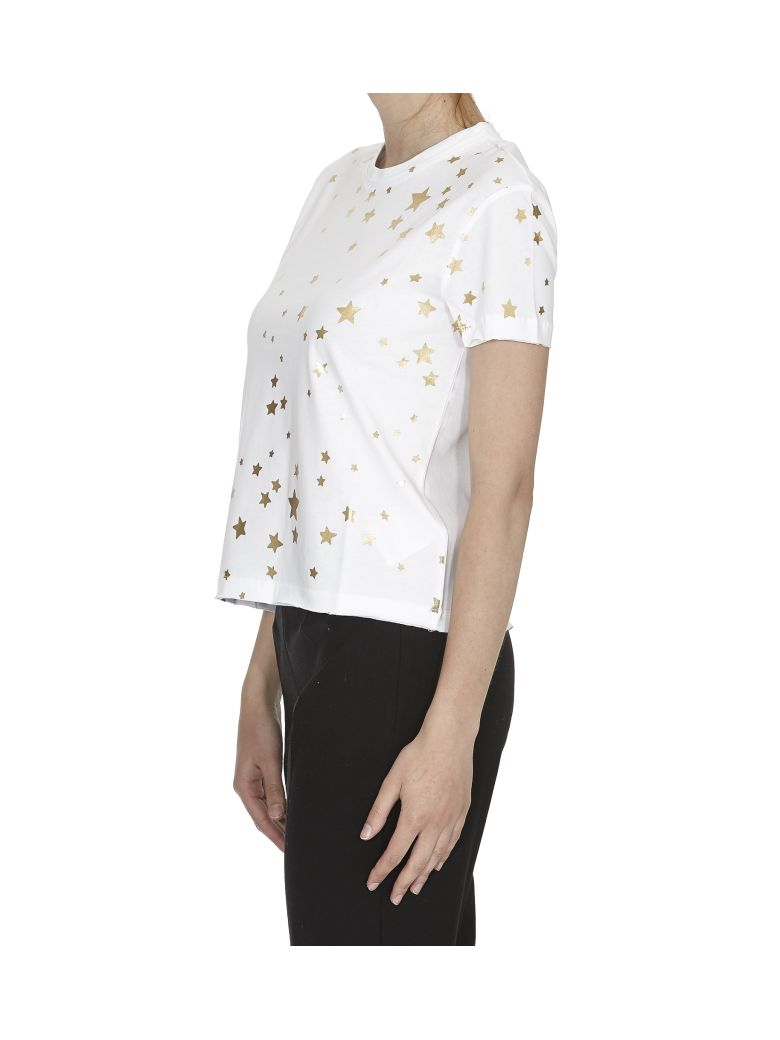 Red valentino star print t shirt in white modesens for Red valentino t shirt