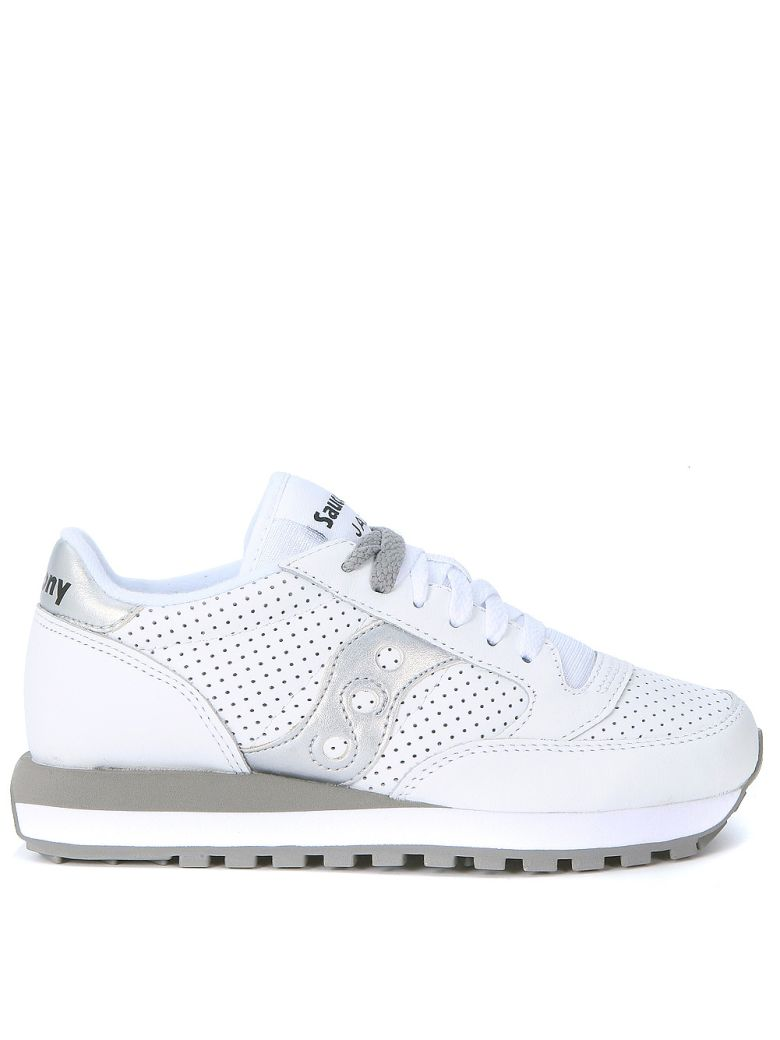 Saucony  Sneaker Saucony Jazz Limited Edition In Pierced White Leather