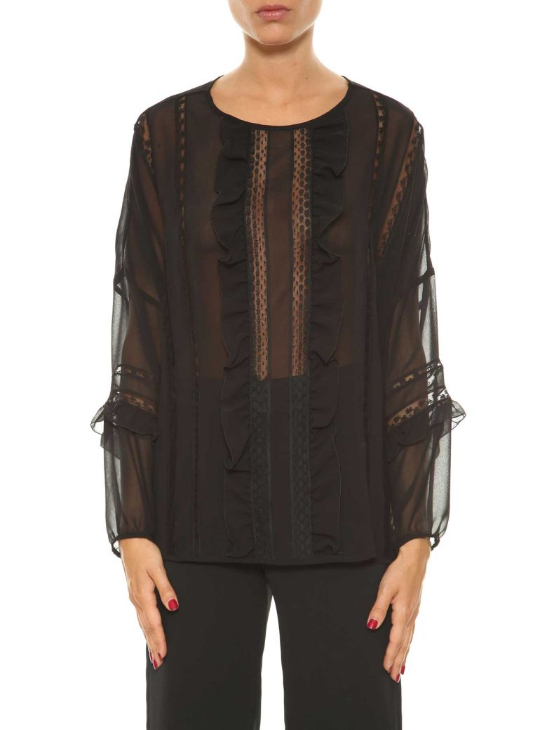 Parosh  BLOUSE WITH FRILLS