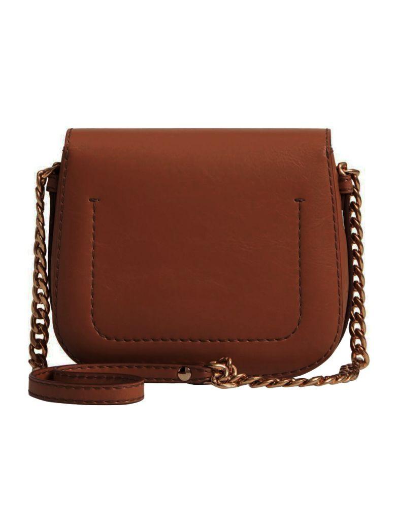 STELLA MCCARTNEY Stella Popper Faux Leather Shoulder Bag in Black