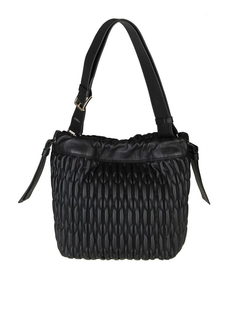 CAOS M BAG IN CALF LEATHER AND BLACK COLOR