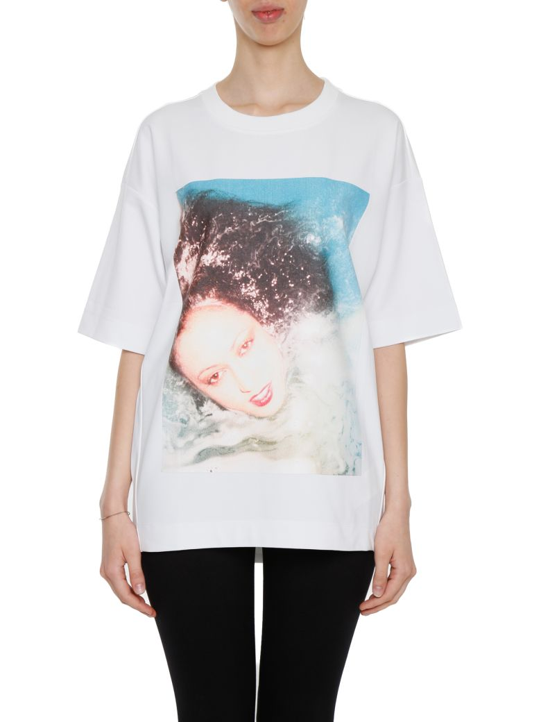 KENZO Polaroid-Print Cotton-Jersey T-Shirt in White
