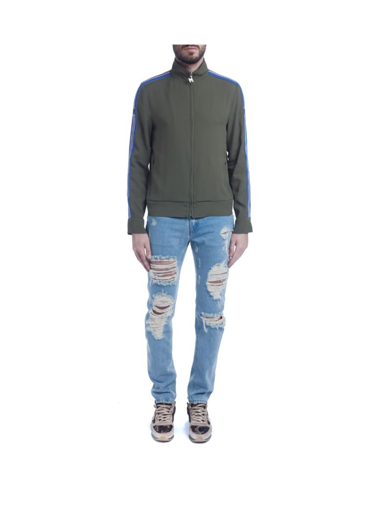 MSGM Kaki Green Acetate Sweater in Verde