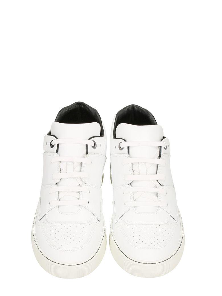 asymmetric panelled sneakers - White Lanvin