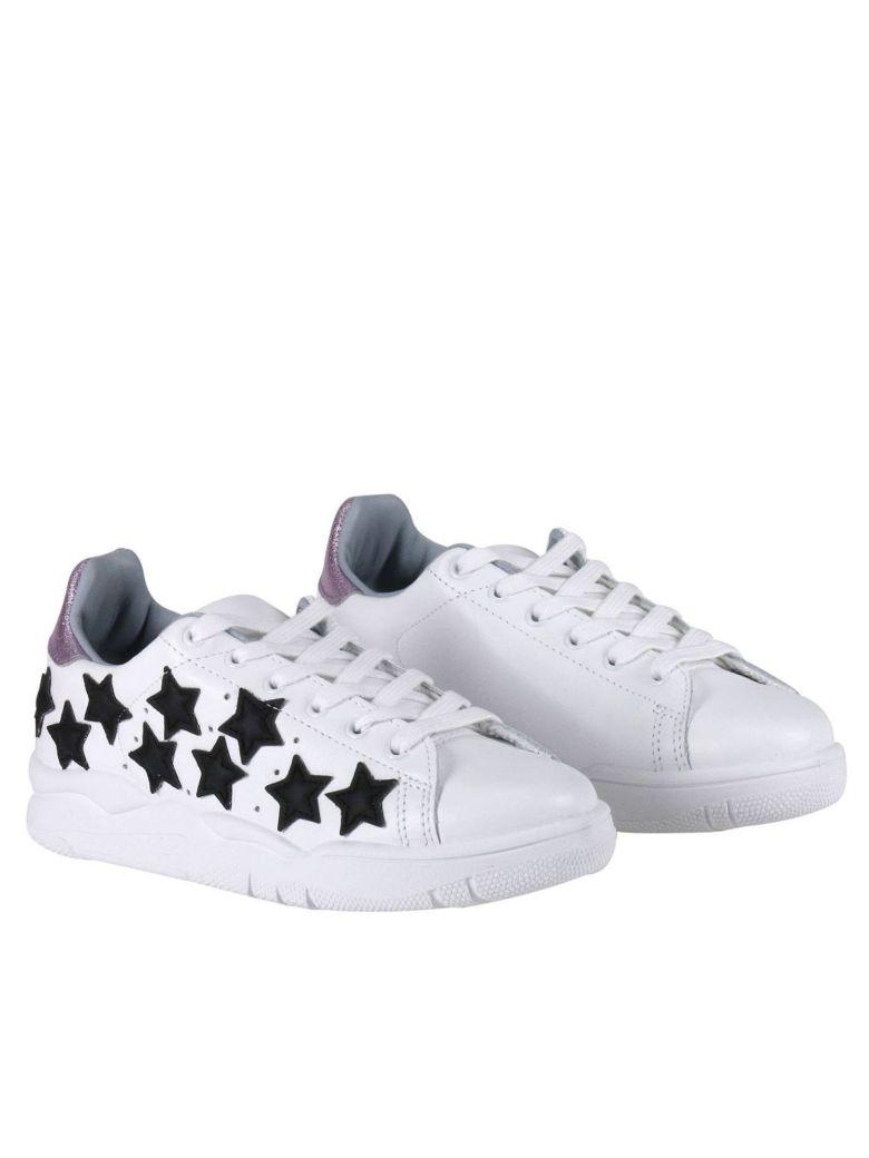 CHIARA FERRAGNI Roger White Leather Sneakers