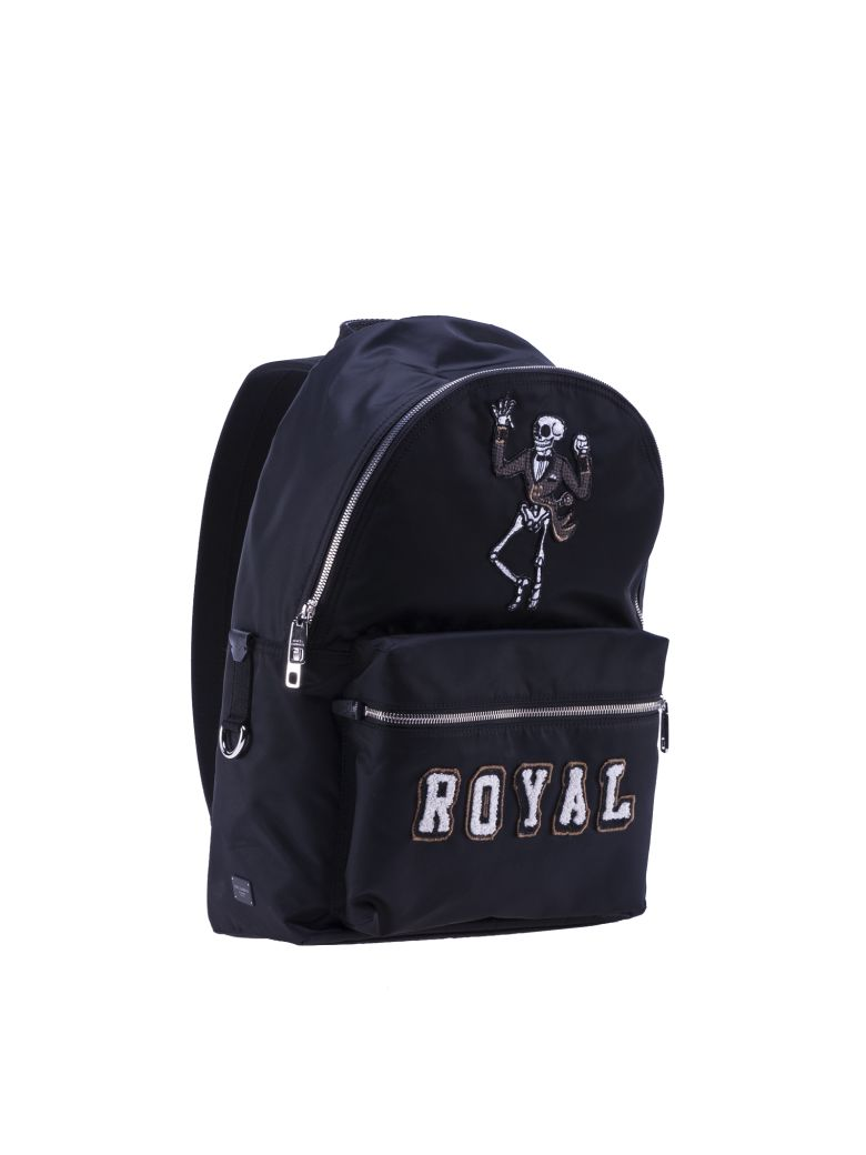 DOLCE & GABBANA Royal Vulcano Backpack From in Black