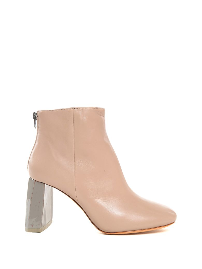 CLAUDINE LEATHER ANKLE BOOTIES