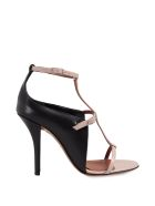 Givenchy Bi-color Leather Cage Sandal