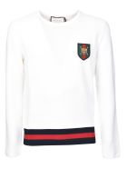 Gucci Web Crew Neck Sweater