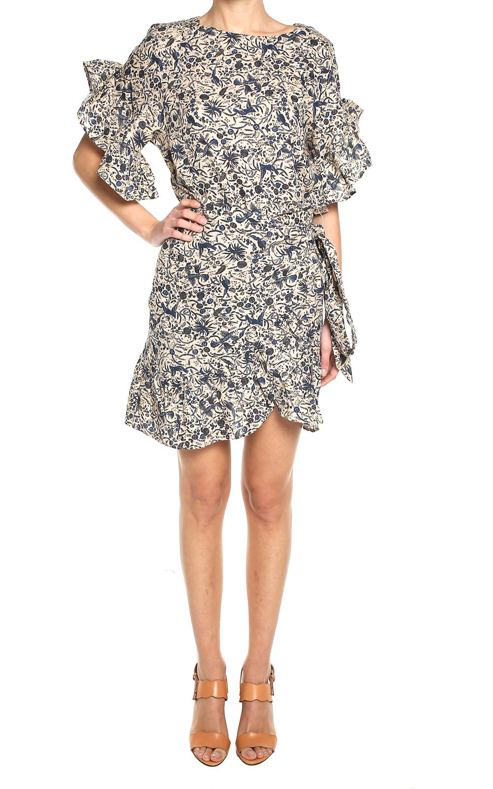 Delicia ruffle-trimmed floral-print linen dress Isabel Marant Discount Pay With Visa Visa Payment Sale Online Discount Latest Collections OZQ4wqr