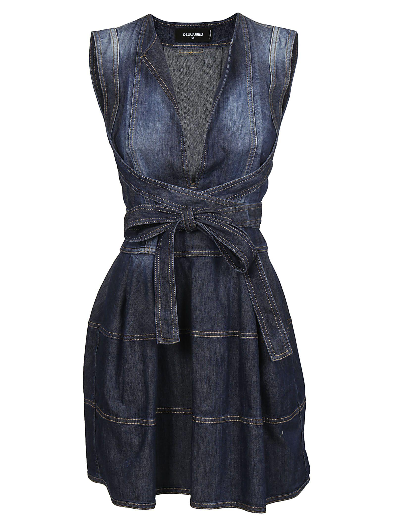 Dsquared2 Denim Flared Dress