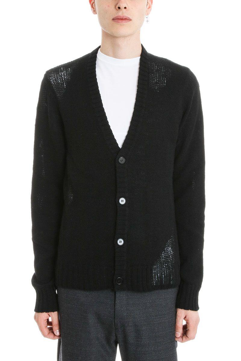 Maison Margiela - Maison Margiela Black Wool Cardigan - black ...