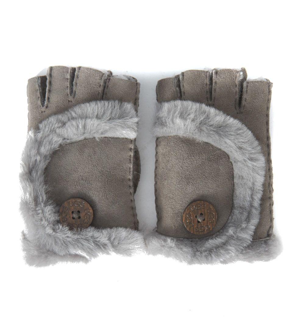 Ugg Grey Suede Gloves