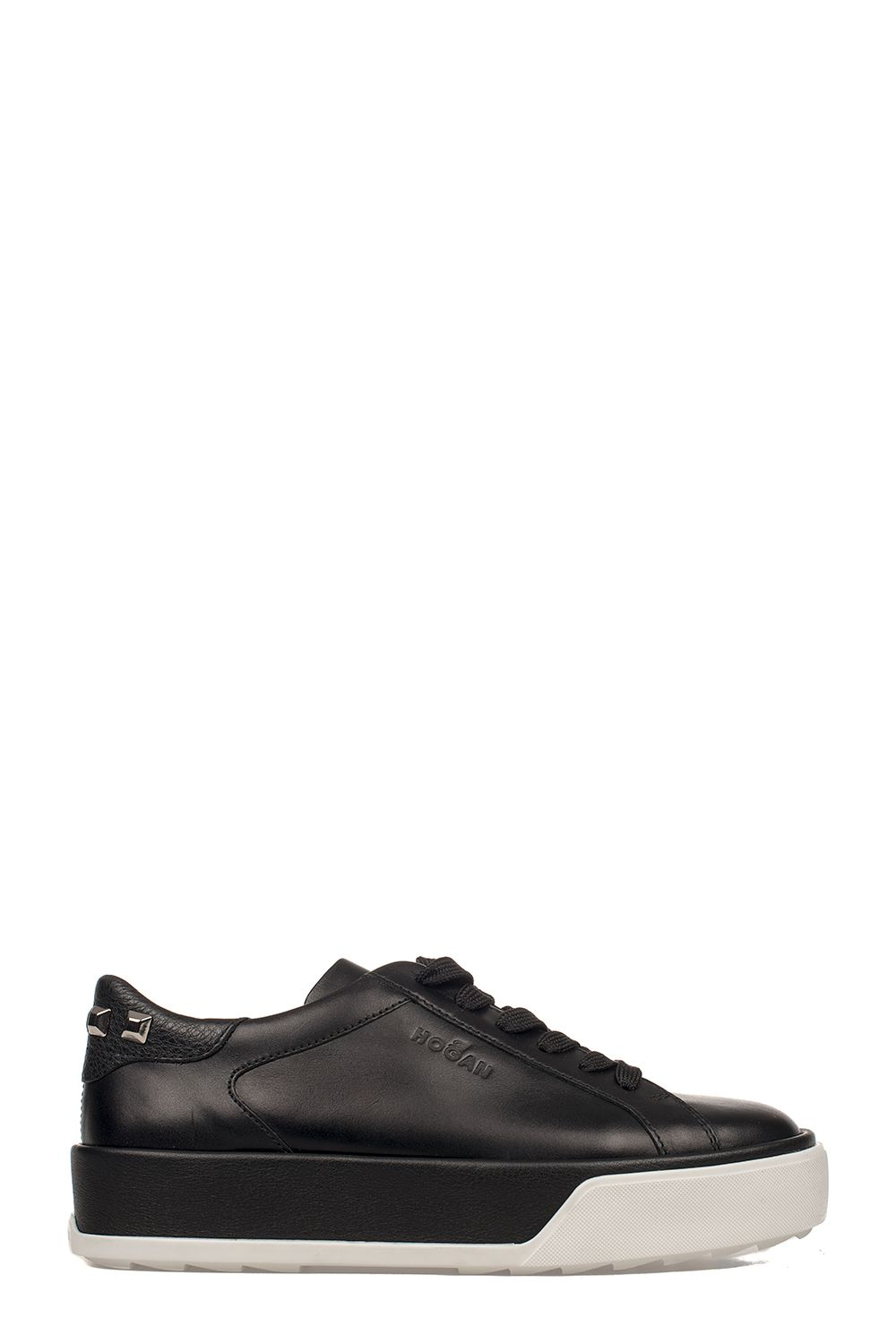 Black R320 Leather Sneakers
