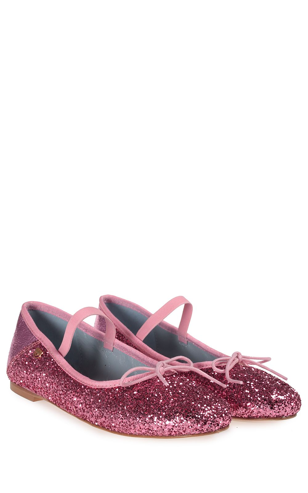 chiara ferragni chiara ferragni glittered ballet flat fuxia women 39 s flat shoes italist. Black Bedroom Furniture Sets. Home Design Ideas