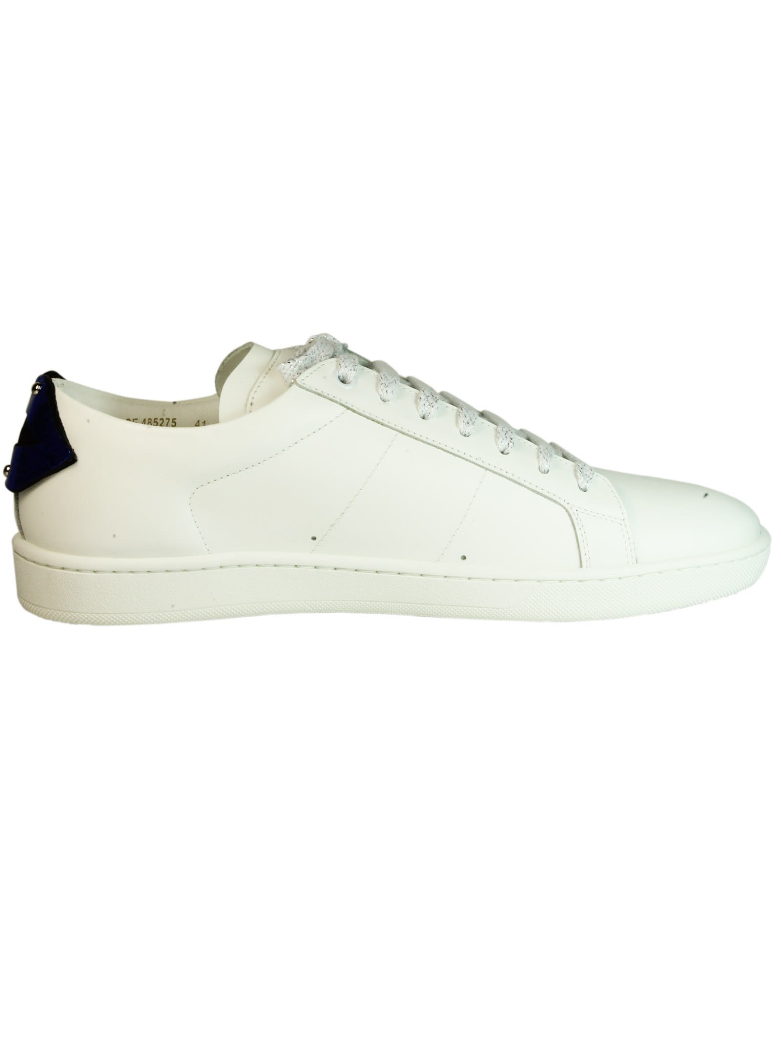Saint Laurent White Lips Court Classic Sneakers