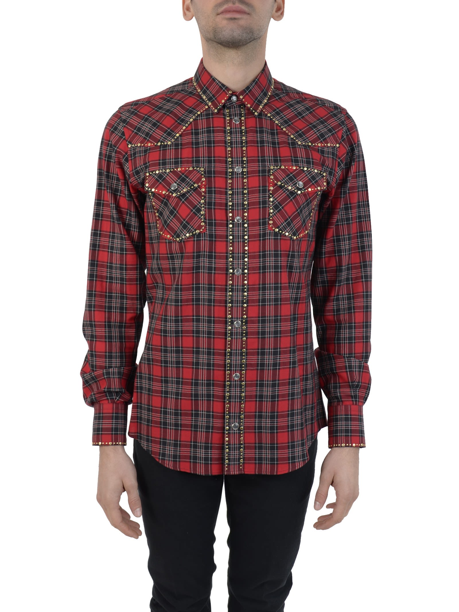 Red Check Cow-boy Shirt